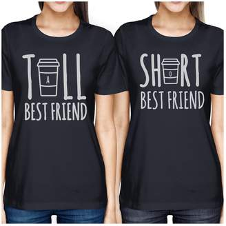 365 Printing Tall Short Cup BFF Matching T-Shirts Womens Graphic Cotton Tee