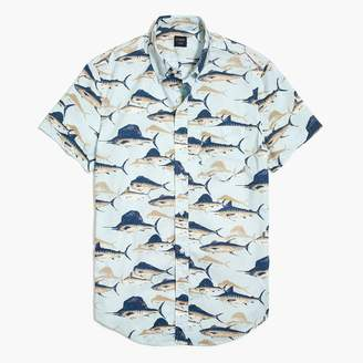 J.Crew Printed slim flex casual short sleeve shirt