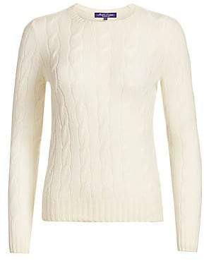 Ralph Lauren Women's Iconic Style Cashmere Jersey Crewneck Sweater