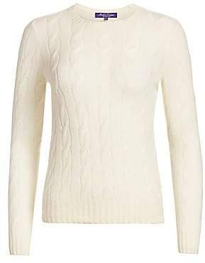 Ralph Lauren Women's Iconic Style Cashmere Jersey Crewneck Sweater