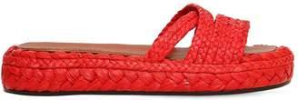 Clergerie 35mm Idalie Woven Raffia Slide Sandals