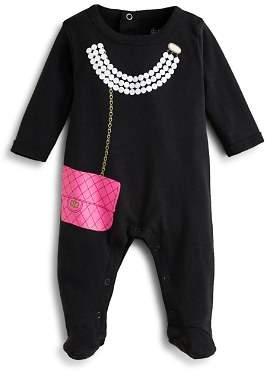Bloomingdale's Sara Kety Girls' Pearls & Purse Footie - Baby