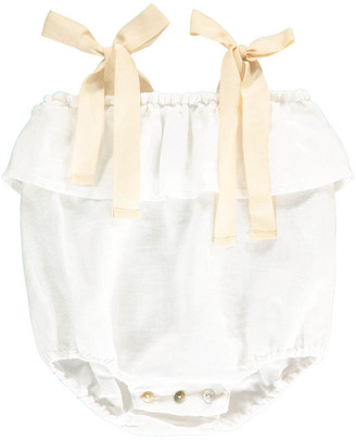 BABE & TESS Bow Linen Romper $93.60 thestylecure.com