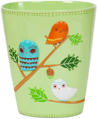Creative Bath Accessories, Give a Hoot Trash Can Bedding