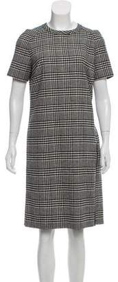 Lanvin Wool Houndstooth Dress