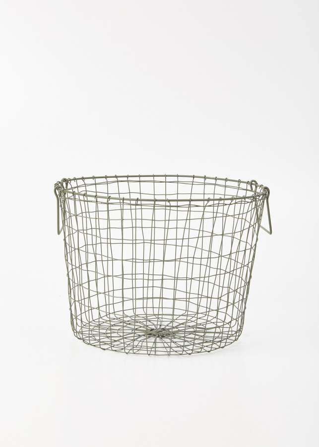 Fog Linen Round Basket