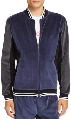 Calvin Klein Jeans Velour Color-Block Bomber Jacket