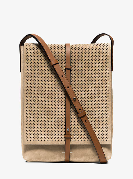 MICHAEL Michael Kors Michael Kors Taos Small Perforated Suede Crossbody