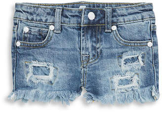 7 For All Mankind Seven 7 Little Girl's Distressed Denim Shorts