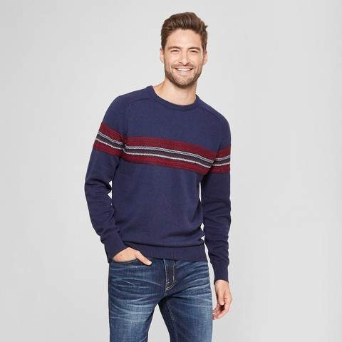 Goodfellow & Co Men's Standard Fit Crew Neck Sweater - Goodfellow & Co Navy