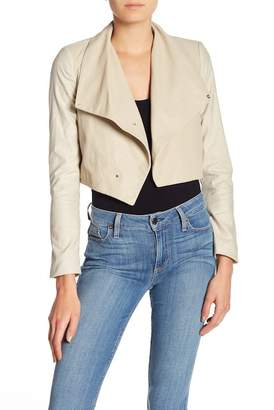 Blend of America LAMARQUE Leather & Linen Crop Jacket