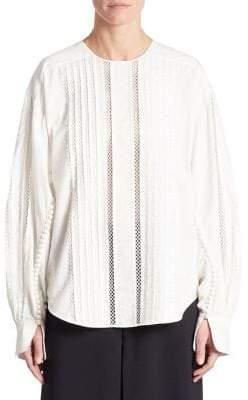 Chloé Soft Washed Cotton Button-Trimmed Shirt