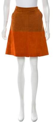 Opening Ceremony Suede Knee-Length Skirt