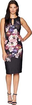 Adrianna Papell Women's Modern Sleeveless Sheath Dress
