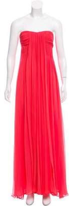 Halston Silk Strapless Gown w/ Tags
