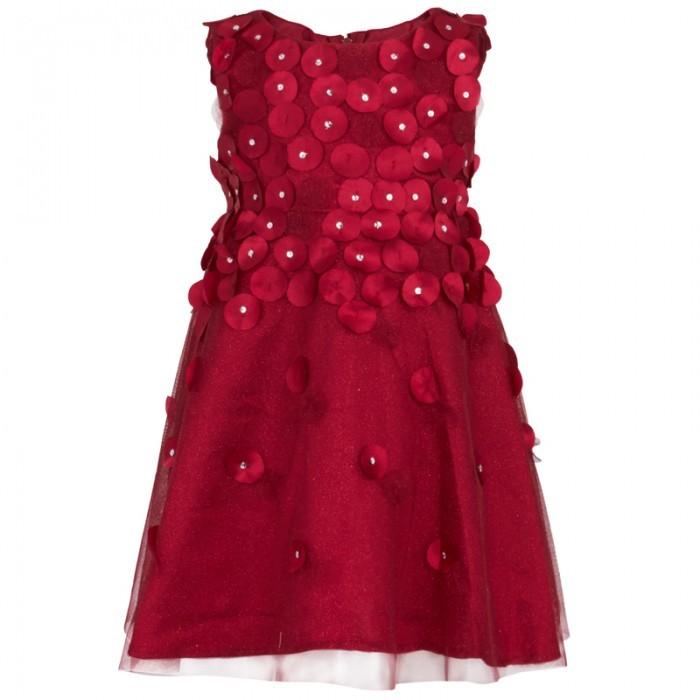 Kate Mack Biscotti Red Glitter Netting Dress