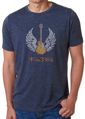 Freebird LOS ANGELES POP ART Los Angeles Pop Art Men's Big & Tall Premium Blend Word Art T-Shirt - Lyrics To
