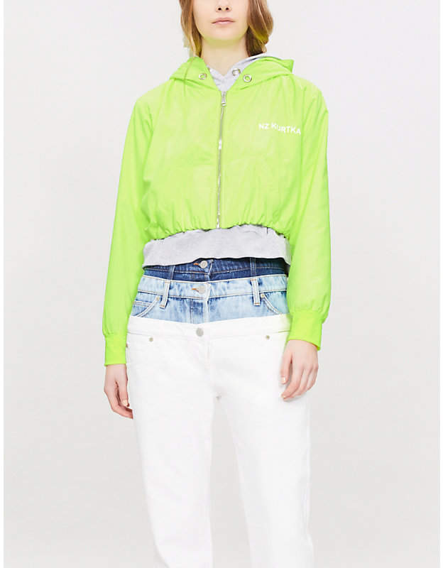 Double-layered shell and cotton-jersey jacket