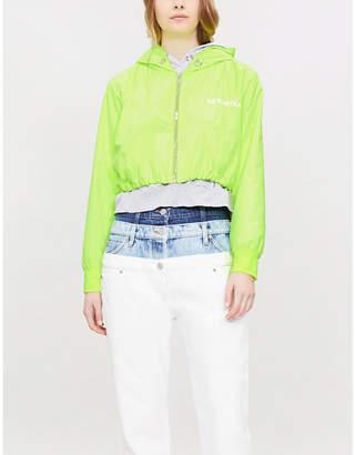 Natasha Zinko Double-layered shell and cotton-jersey jacket