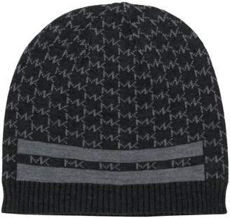MICHAEL Michael Kors logo pattern beanie