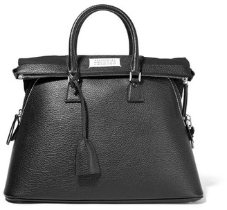 Maison Margiela - 5ac Large Textured-leather Tote - Black $2,995 thestylecure.com