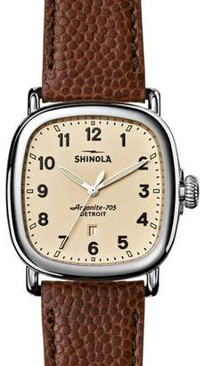 Shinola 41mm Guardian Men's Watch, Brown/Cream $675 thestylecure.com
