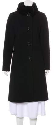 Cinzia Rocca Fur-Trimmed Virgin Wool & Cashmere-Blend Coat