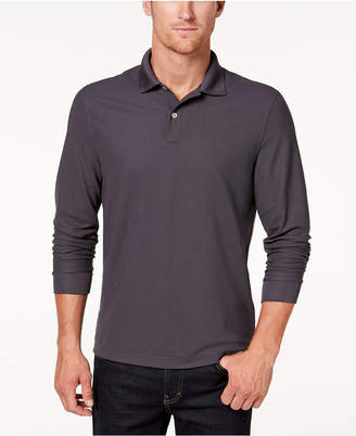 Club Room Men's Long-Sleeve Polo, Created for Macy's
