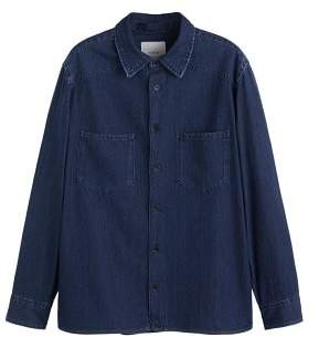 Mango man MANGO MAN Regular-fit chest-pocket denim shirt
