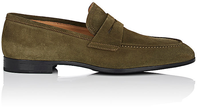 Barneys New York Barneys New York Men's Suede Penny Loafers