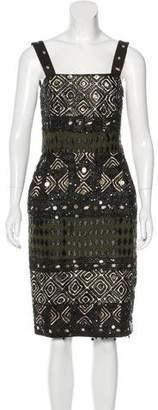 Oscar de la Renta Embellished Sleeveless Dress