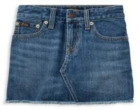 Ralph Lauren Little & Big Girl's Denim Skirt