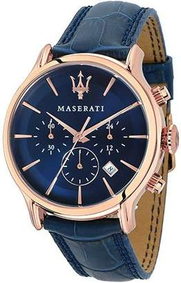 Epoca MASERATI Men's 'Epoca' Quartz Stainless Steel and Leather Fashion Watch