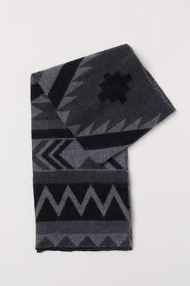 H&M Patterned Scarf - Black