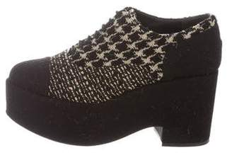 Chanel Platform Tweed Booties