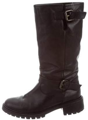 Fendi Leather Moto Boots