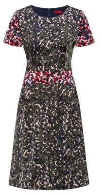 HUGO Boss Camouflage-print dress on hammered fabric 4 Patterned