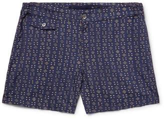Incotex Slim-Fit Short-Length Printed Swim Shorts