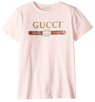 Gucci Kids Web Print T-Shirt (Little Kids/Big Kids)