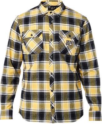 Fox Men Traildust Yarn-Dyed Plaid Brushed Twill Flannel Shirt