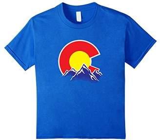 Colorado Flag Mountain Design T-Shirt