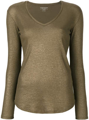 Majestic Filatures v-neck blouse