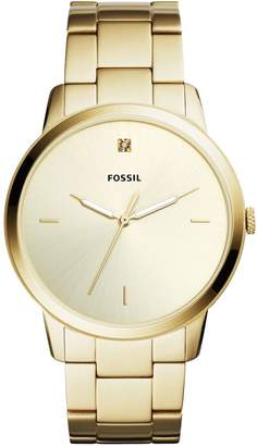 Fossil The Minimalist Three-Hand Carbon Series Stainless Steel Bracelet Watch