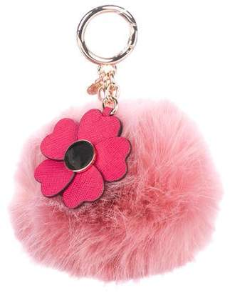 MICHAEL Michael Kors Flower Pom-Pom Keychain
