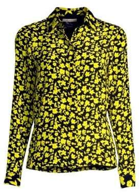 Alice + Olivia Willa Silk Floral Shirt