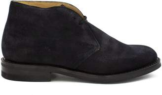 Church's Navy Leather And Suede Ryder 3 Desert Boots.