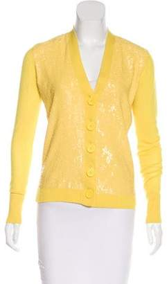 Tory Burch Sequin-Embellished Wool Cardigan