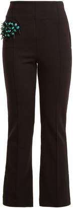 Toga Bead-embellished straight-leg wool-blend trousers