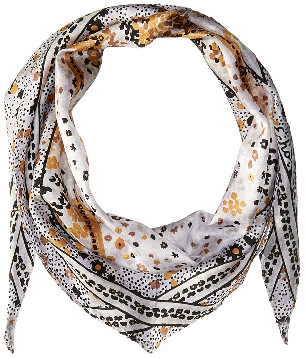 Echo Design - Ditzy Patchwork Silk Diamond Scarf Scarves