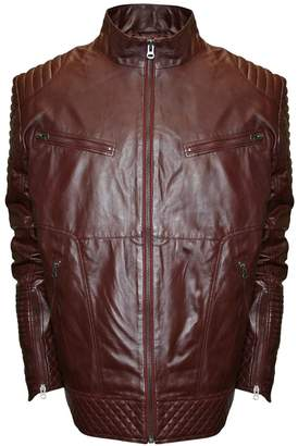 Moto Men's Franchise Club Raw X Quilted Lambskin Leather Jacket